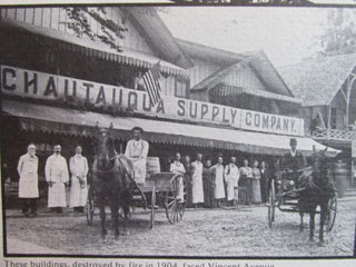 The grocery where Patricia worked was destroyed by fire in 1904.