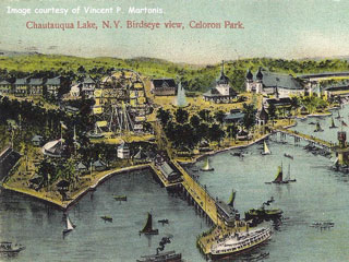 Near Jamestown, New York, Celoron was a huge amusement park that rivaled Coney Island. It opened in 1894 and closed in 1962. Today nothing stands.