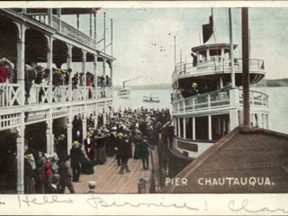 The title for my book, The Chautauqua Belles, is actually named after a steamboat called The Chautauqua Belle which rides Chautauqua Lake today.