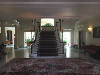 The front entrance hall