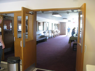 The foyer to the auditorium