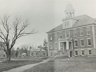 Jennings Hall, Gaoyadeo Girls' Dorm with plumbing facility and heating plant.