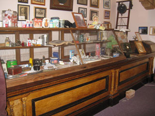Burlingame's has been demolished, but the counter has been preserved in the Ransomville Historical Museum